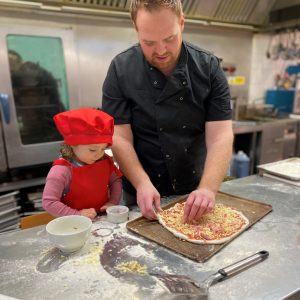 childrens pizza making at raglan garden centre