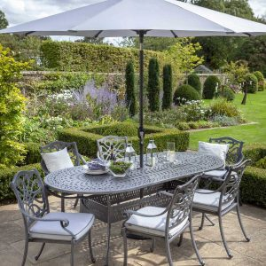 Capri 6 Seater Aluminium Dining Set