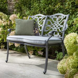 Capri 2 Seat Bench With Cushion