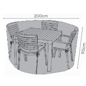 Premium Cover for 4 seater dining set grey