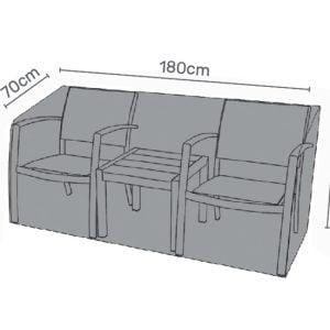 Bistro-bench cover measures grey