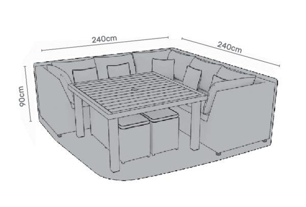 Premium Cover 6 Seat Rectangular dining set