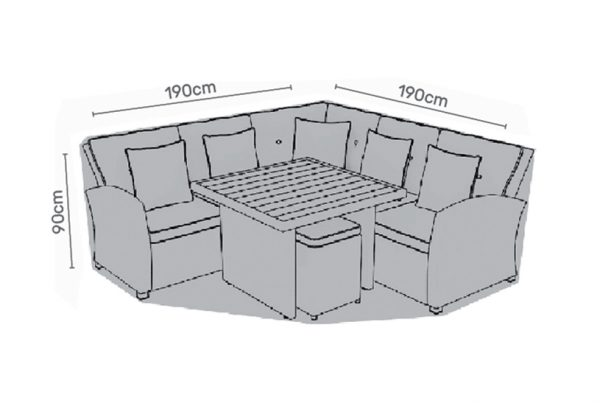 Cover for corner casual dining set