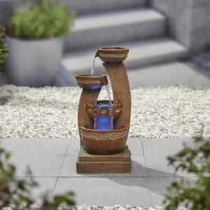 Kelkay Azure Columns inc LEd's Water Feature