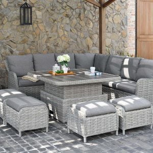Samoa 120cm Square Casual Dining Corner Set