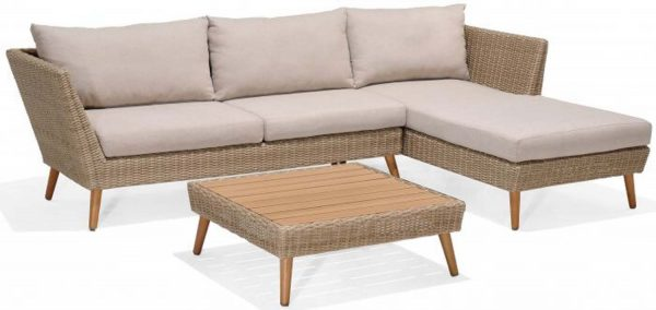 LifestyleGarden Martinique Chaise Lounge Sofa Set