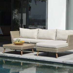 LifestyleGarden Martinique Chaise Lounge Sofa Set